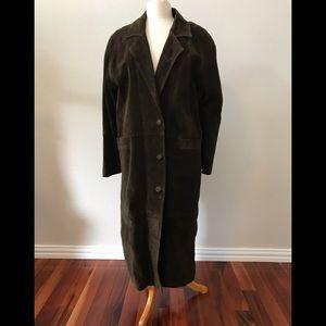 Jackets & Blazers - Retro/Vintage full-length suede coat